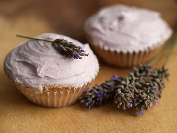 Lavender infused cupcakes